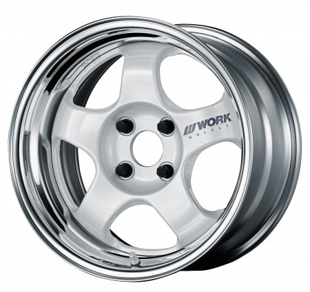 WHITE [WHT] CENTRE DISK WITH POLISHED ANODIZED STEP RIM