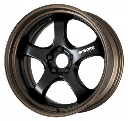 MATT BLACK [MBL] CENTRE DISK WITH MATT BRONZE ANODIZED STEP RIM