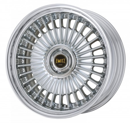 CHROME [C] CENTRE DISK WITH POLISHED ANODIZED STEP RIM