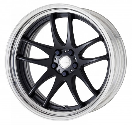 MATT BLACK [MBL] DEEP CONCAVE CENTRE DISK WITH POLISHED ANODIZED STEP RIM