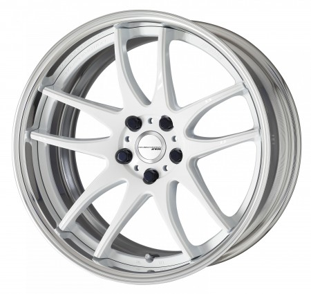 WHITE [WHT] DEEP CONCAVE CENTRE DISK WITH POLISHED ANODIZED STEP RIM