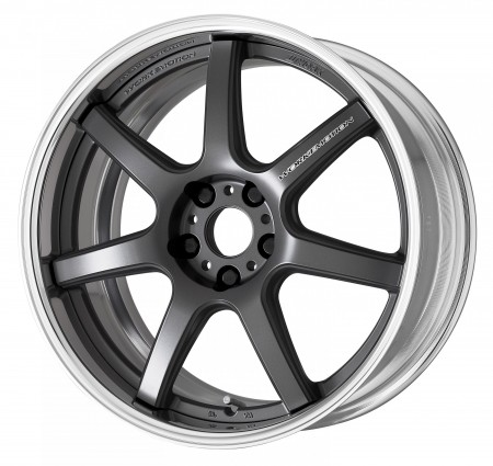 MATT GUNMETAL [MGM] SEMI CONCAVE CENTRE DISK WITH POLISHED ANODIZED FLAT RIM