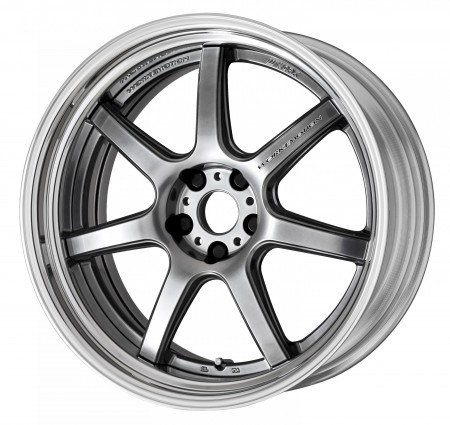 GLIM SILVER [GTS] SEMI CONCAVE CENTRE DISK WITH POLISHED ANODIZED STEP RIM
