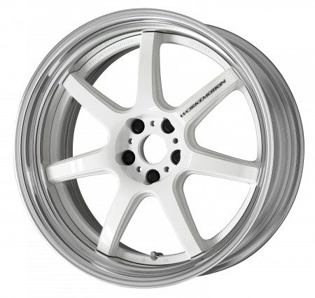 WHITE [WHT] SEMI CONCAVE CENTRE DISK WITH POLISHED ANODIZED STEP RIM
