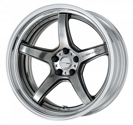 GLIM SILVER [GTS] DEEP CONCAVE CENTRE DISK WITH POLISHED ANODIZED STEP RIM