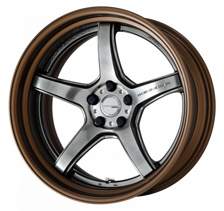GLIM SILVER [GTS] DEEP CONCAVE CENTRE DISK WITH GLOSS BRONZE ANODIZED FLAT RIM
