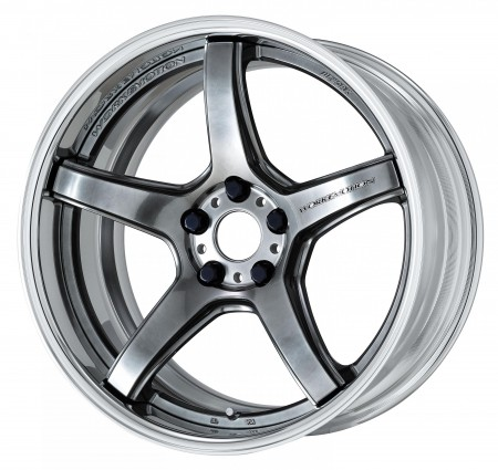 GLIM SILVER [GTS] DEEP CONCAVE CENTRE DISK WITH POLISHED ANODIZED FLAT RIM