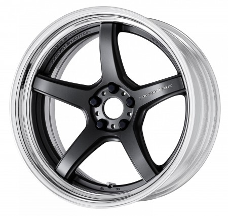 MATT GUNMETAL [MGM] DEEP CONCAVE CENTRE DISK WITH POLISHED ANODIZED STEP RIM