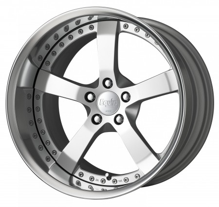 FEIN HEIT SILVER II [FS2] CENTRE DISK, POLISHED ANODIZED FLAT RIM WITH CHROME RIVETS