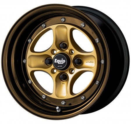 SPRINT GOLD [SGL] CENTRE DISK, GLOSS BRONZE ANODIZED STEP RIM WITH CHROME RIVETS