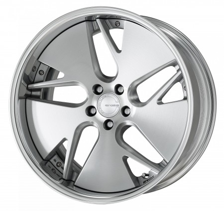 BRUSHED [BRU] MIDDLE CONCAVE CENTRE DISK WITH POLISHED ANODIZED FLAT RIM