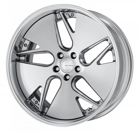 COMPOSITE BUFFING BRUSHED [PBU] MIDDLE CONCAVE CENTRE DISK WITH POLISHED ANODIZED FLAT RIM