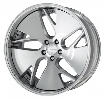 BRUSHED [BRU] DEEP CONCAVE CENTRE DISK WITH POLISHED ANODIZED FLAT RIM