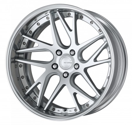MATT SILVER [MSL] DEEP CONCAVE CENTRE DISK WITH POLISHED ANODIZED FLAT RIM