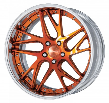 COPPER CLEAR COATING [PUC2] DEEP CONCAVE CENTER DISK WITH POLISHED ANODIZED FLAT RIM