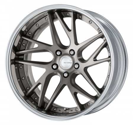 MATT GRAY BRUSHED [MBUA] DEEP CONCAVE CENTRE DISK WITH POLISHED ANODIZED FLAT RIM