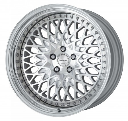 CUT CLEAR [MSP] CENTRE DISK, POLISHED ANODIZED STEP RIM WITH CHROME RIVETS