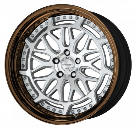 CUT CLEAR [MSP] CENTRE DISK, GLOSS BRONZE ANODIZED STEP RIM WITH CHROME RIVETS