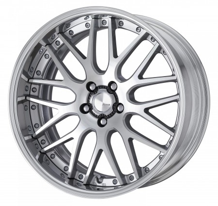 CUT CLEAR [MSP] CENTRE DISK, POLISHED ANODIZED FLAT RIM WITH CHROME RIVETS