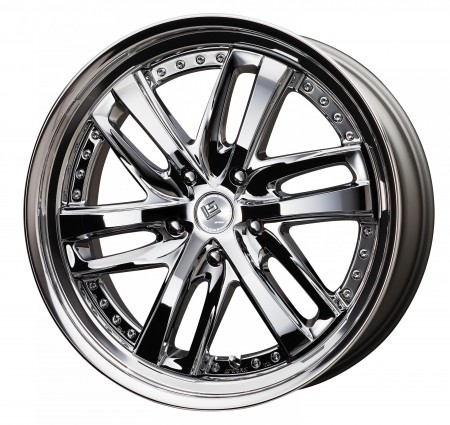 SUPER CHROME [SC] CENTRE DISK, POLISHED ANODIZED STEP RIM WITH CHROME RIVETS