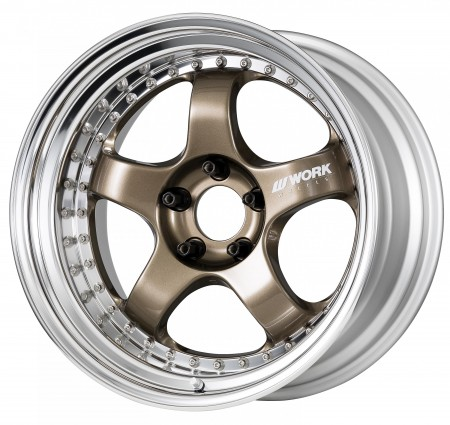 HYPER GOLD [HPG] CENTRE DISK, POLISHED ANODIZED STEP RIM WITH CHROME RIVETS