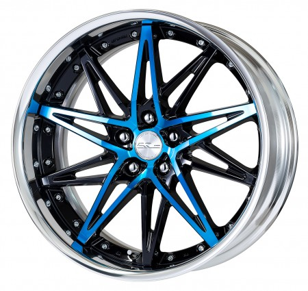 GLIM SILVER [GTS] CENTRE DISK, POLISHED ANODIZED STEP RIM WITH CHROME RIVETS