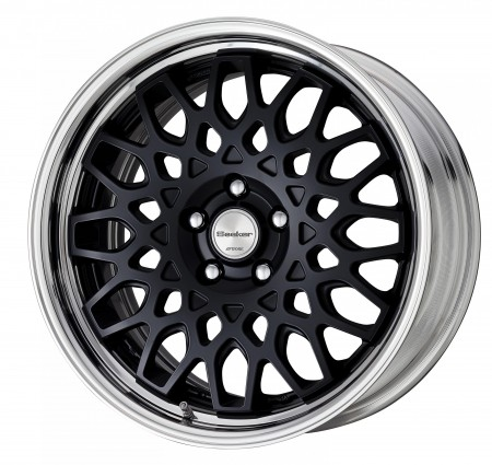 MATT BLACK [MBL] CENTRE DISK WITH POLISHED ANODIZED STEP RIM