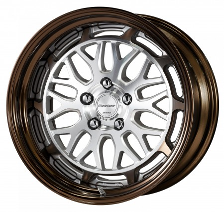 CUT CLEAR [MSP] CENTRE DISK WITH GLOSS BRONZE ANODIZED STEP RIM