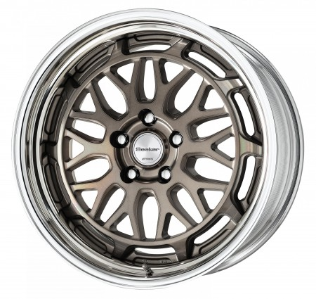 TRANS GRAY POLISH [TGP] CENTRE DISK WITH POLISHED ANODIZED STEP RIM