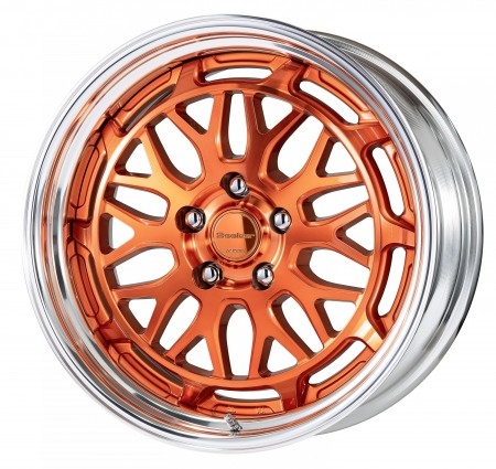 CUT CLEAR COPPER [MCC2] CENTRE DISK WITH POLISHED ANODIZED STEP RIM