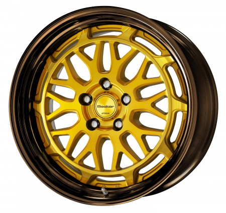 IMPERIAL GOLD [IPG] CENTRE DISK WITH GLOSS BRONZE ANODIZED STEP RIM