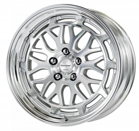 CUT CLEAR [MSP] CENTRE DISK WITH POLISHED ANODIZED STEP RIM