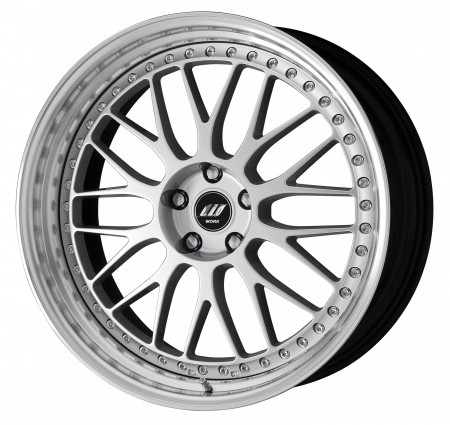 COOL LIGHT SILVER [CLS] CENTRE DISK, POLISHED ANODIZED STEP RIM, CHROME RIVETS